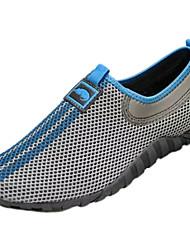 Men's Loafers & Slip-Ons PU Spring Summer Low Heel Gray Blue Under 1in