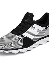 Women's Athletic Shoes PU Spring Summer Low Heel White Black Blushing Pink Under 1in