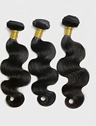 3Pcs/150g 8-26inch Peruvian Virgin Body Wave Hair Natural Black Human Hair Weave Bundles.