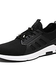Homme Chaussures d'Athlétisme Confort Semelles Légères Polyuréthane Eté Automne Extérieure Sport Marche Talon Plat Noir Écran couleur Plat