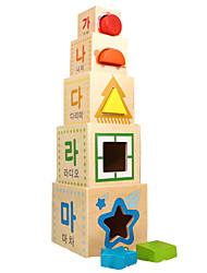Blocos de Construir Blocos Lógicos para presente Blocos de Construir Quadrada 1-3 anos 3-6 anos de idade Brinquedos