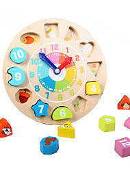 Building Blocks For Gift  Building Blocks Clock Wooden 1-3 years old Toys