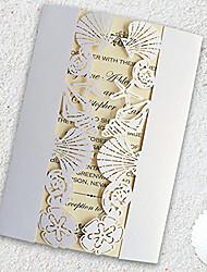 Plis Fenêtre Invitations de mariage 50-Cartons d'Invitations Pour Soirée Cadeaux Pour la Mariée Faire-Parts de Fiançailles Cartes