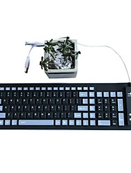Waterproof Fold  Mute Silica Gel 103 Keys  OTG USB Keyboard