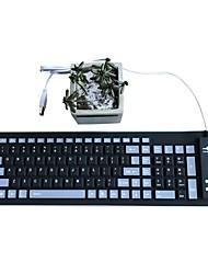 Gel imperméable en silicone silencieux pliant 103 touches ou clavier usb