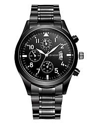 Hombre Reloj de Vestir Reloj de Moda Reloj de Pulsera Reloj creativo único Reloj Casual Simulado Diamante Reloj Chino Cuarzo Calendario