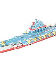 Jigsaw Puzzles DIY KIT 3D Puzzles Building Blocks DIY Toys Warship Aircraft Carrier Ship High Quality Paper