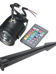DC12V /AC85-265V 10W RGB Colorful Remote Control LED Earth Lamp / Lawn Lamp 1Pcs