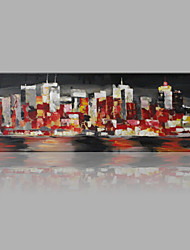 IARTS® Hand Painted Oil Painting Modern City Twilight Abstract Art Acrylic Canvas Wall Art For Home Decoration