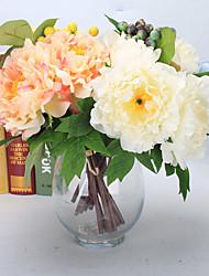7 Филиал Пенопласт Пластик Полиуретан Недвижимость сенсорный Гортензии Пионы Pастений Букеты на стол Искусственные Цветы