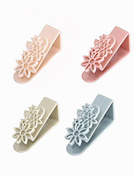 Creative ABS Hollow Out Flower Cabinet Accessories Kitchen Hook 2pcs/set