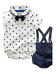 Baby Kids' Party/ Evening Outdoor Casual/Daily Going out Holiday Polka Dots Clothing Set,Dresswear Autumn/Fall Summer