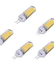 3W Luci LED Bi-pin 1 COB 250-350 lm Bianco caldo Luce fredda AC220 V 5 pezzi