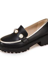 Women's Loafers & Slip-Ons Comfort Light Soles Leatherette Summer Fall Casual Dress Comfort Light Soles Beading Split JointLow Heel