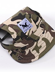 Cat Dog Bandanas & Hats Dog Clothes Sports Camouflage Stripe Red/White White/Blue White/Pink Leopard