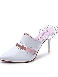 Women's Heels Formal Shoes Comfort PU Summer Fall Office & Career Party & Evening Dress Walking Formal Shoes Comfort Stiletto HeelAlmond