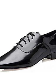 Men's Dance Shoes Leatherette Leatherette Latin / Ballroom Heels Low Heel Professional / Indoor / Performance / Practice