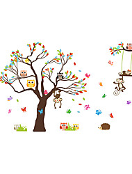 Wall Stickers Wall Decals Cartoon Animal Paradise PVC Wall Stickers