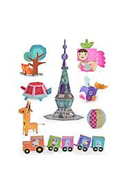 Kit de Bricolaje Maqueta de Papel Papel 3-6 años de edad