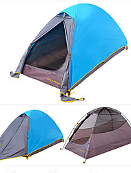 1 person Tent Double Fold Tent One Room Camping Tent 2000-3000 mm Nylon Rain-Proof Foldable Wind Proof