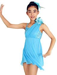 MiDee Ballet Dancewear Adults' Children's Sequined Dropping Ruffles Lyrical Dress