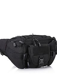 Men Waist Bag Nylon All Seasons Casual Outdoor Round Zipper Brown Black Green