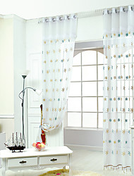 W100cm*L250cm One Pannel Curtains Snowflake Embroidery Sheer Shade Windows Curtain