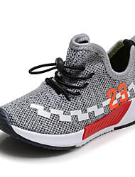 Boys' Sneakers Comfort Light Soles Spring Summer Fabric Walking Shoes Casual Outdoor Flat Heel Black Gray Green Flat