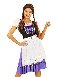 Costumes de Cosplay Costume de Soirée Fête d'Octobre/Bière Serveur / Serveuse Fête / Célébration Déguisement d'Halloween MosaïqueRobe