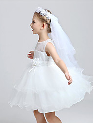 Flower Double Net Gauze Girl's Dress Wreath Headdress/Wedding Flower Princess Veil
