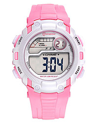 Kid's Sport Watch Digital Water Resistant / Water Proof Rubber Band Black Blue Pink
