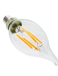 4W Luci LED a candela CA35 4 COB 300-400 lm Bianco caldo Oscurabile Decorativo AC 110-130 V 1 pezzo