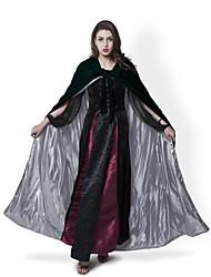 Medieval Dark Green Halloween Velvet Hooded Cloak Wedding Hooded Cape Lined Silver Satin Renaissance Wicca LOTR SCA Star Movie Cosplay LARP