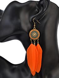 Mulheres Brincos CompridosBásico Original Geométrico Amizade Africa Borlas EUA Moda Formais Vintage Chrismas Estilo Boêmio Clássico