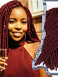 dreadlocks Crochet Faux Dreads Crochet faux dreads Dreadlock Extensions Kanekalon Violet vin foncé Bourgogne Bleu BrunExtensions de