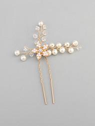 Rhinestone Imitation Pearl Headpiece-Wedding Hair Pin 1 Piece