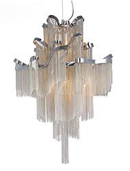 Aluminum Stream Chandelier E12/E14/Designer Pendant Light/Silver & Gold Color /Showroom Living Room Spiral Staircase staircase
