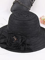 Для женщин Шапки Цветы Широкополая шляпа,Весна/осень Лето Пластиковая пленка Ткань Пэчворк Разные цвета
