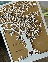 Pli Parallèle Vertical Invitations de mariageCartes d'invitation Echantillons d'invitation Cartes de la Fête des Mères Cartons