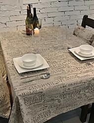 European Large Letter Color Cotton And Linen Table Cloths 60*60cm
