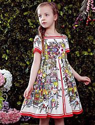 Girl's Floral Dress Short Sleeve