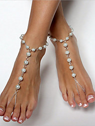 Women's Anklet/Bracelet Imitation Pearl Copper Fashion Ball Jewelry For Daily Outdoor clothing Going out