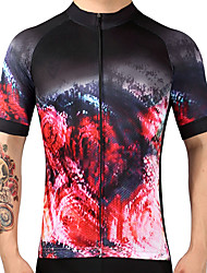 Summer Men's Breathable Bike Jersey Short Sleeve Cycling Jersey Quick Dry Mountain Bicycle Clothes