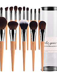 vela.yue Pro Makeup Brushes Set 15pcs Full Function Travel Face Cheek Eyes Lips Beauty Tools Kit with Case Cruelty-free Technology Collections