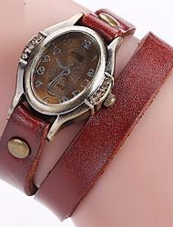 Mujer Reloj de Moda Reloj Pulsera Reloj creativo único Reloj Casual Simulado Diamante Reloj Chino Cuarzo Piel Banda Cosecha Encanto