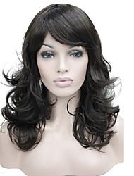 Perruques naturelles Synthétique Sans bonnet Perruques Moyen Châtain Cheveux