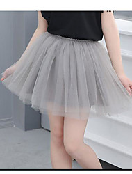 Girls' Solid Skirt Summer