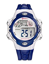 Kid's Sport Watch Fashion Watch Digital Water Resistant / Water Proof Rubber Band Black Blue Pink