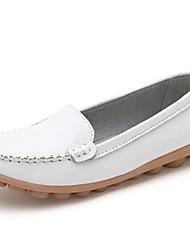 Damen Schuhe PU Frühling Sommer Komfort Sneakers Für Normal Weiß Schwarz Orange