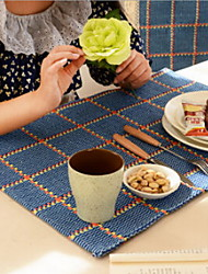 Simple Lattice Cotton Thread Weaving Washing Cotton And Linen Table Placemat 40*60cm
